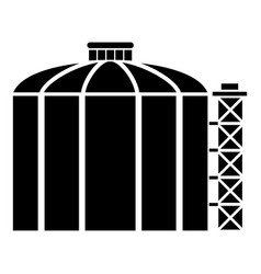 Oil storage tank icon simple black style vector