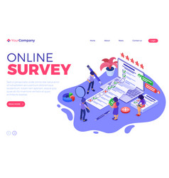 online survey questionnaire form vector image