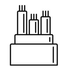 Optical fiber icon outline style vector
