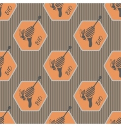 Pattern on the subject of bees and honey 2 vector image