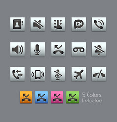 Phone calls interface icons - satinbox series vector