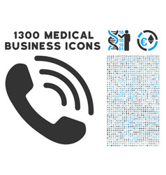 Phone ring icon with 1300 medical business icons vector