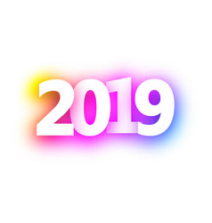 pink spectrum 2019 new year festive background vector image