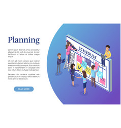 planning business strategy web page with text vector image