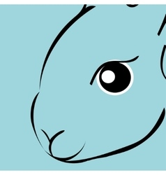 Rabbit animal cartoon vector