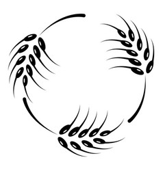 rough wheat icon simple style vector image