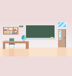 school classroom with furniture empty no people vector image