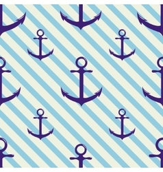 Seamless pattern with anchor on background and vector image
