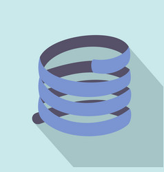 Short spring coil icon flat style vector