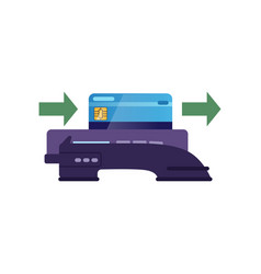 Showing how to pay by plastic card vector