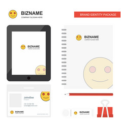 smiley emoji business logo tab app diary pvc vector image