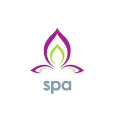 spa lotus flower logo vector image