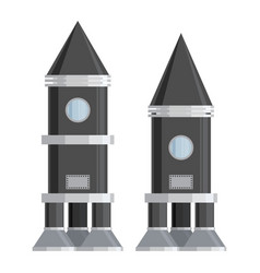 Spaceship set vector