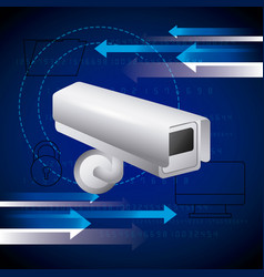 surveillance camera computer folder security vector image