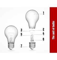 The unit of energy-saving lamps vector image