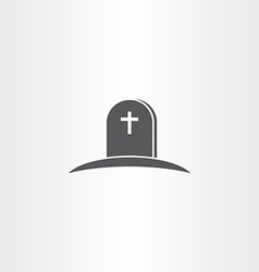 Tomb death icon symbol vector