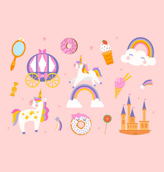 unicorn pattern for baby vector image