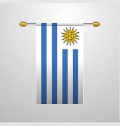 Uruguay hanging flag vector