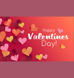 valentine card origami style template valentines vector image
