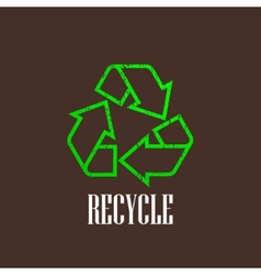 Vintage with a recycle symbol vector