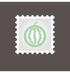 Watermelon stamp Outline vector image