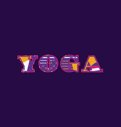 Yoga concept word art vector