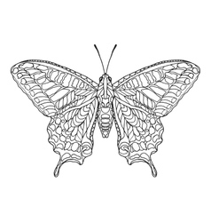 Zentangle stylized butterfly vector image