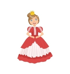 Little Girl With High Hairdo Dressed As Fairy Tale vector image vector image