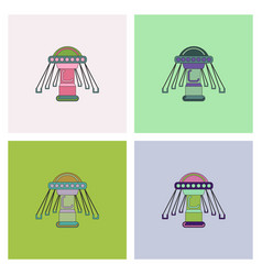 Merry-go-round collection vector