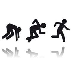 running man icon vector image vector image