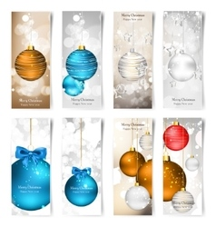 Set with Christmas greeting vector image