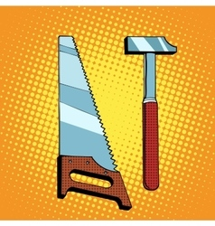 Tools saw hammer vector image vector image
