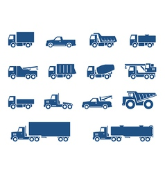 Trucks icons vector