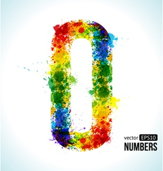 Color paint splashes Gradient Number 0 vector image vector image