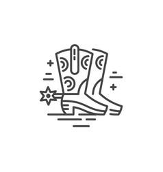 cowboy boot icon vector image