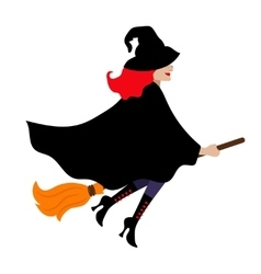 Halloween witch isolated on white vector image vector image