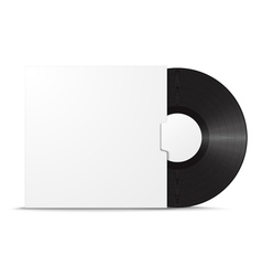 Realistic vinyl record in sleeve vector image vector image
