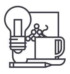 idea management document with scheme line vector image