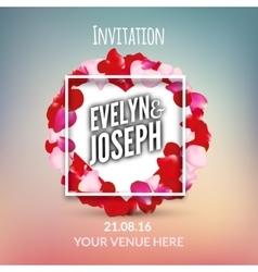 Rose petals Beautiful wedding invitation vector image vector image