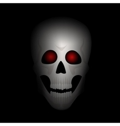 Skull with red eyes vector image