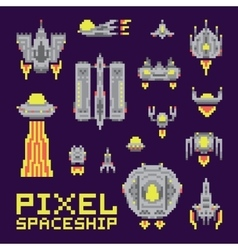 Spaceship isolated set vector image vector image