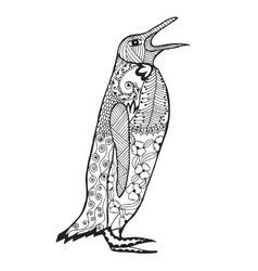 Zentangle stylized penguin Sketch for tattoo or t vector image vector image
