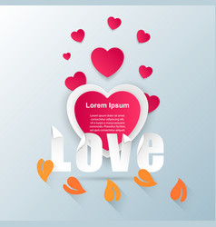 abstract paper hearts valentines day vector image
