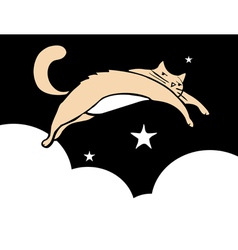 Leaping Cat vector image vector image