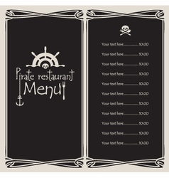 pirate menu vector image