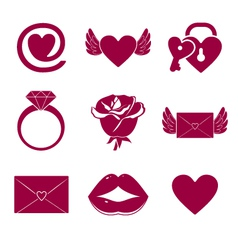 Romantic Icons vector image