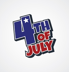 4th of july sign vector image