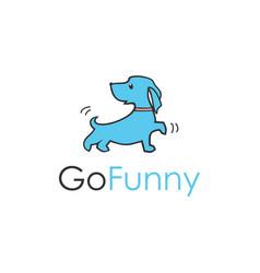 a cute little dog running vector image