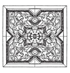 arabian square panel is found on a 16th century vector image