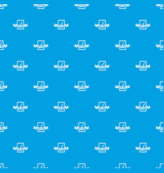 artwork pattern seamless blue vector image